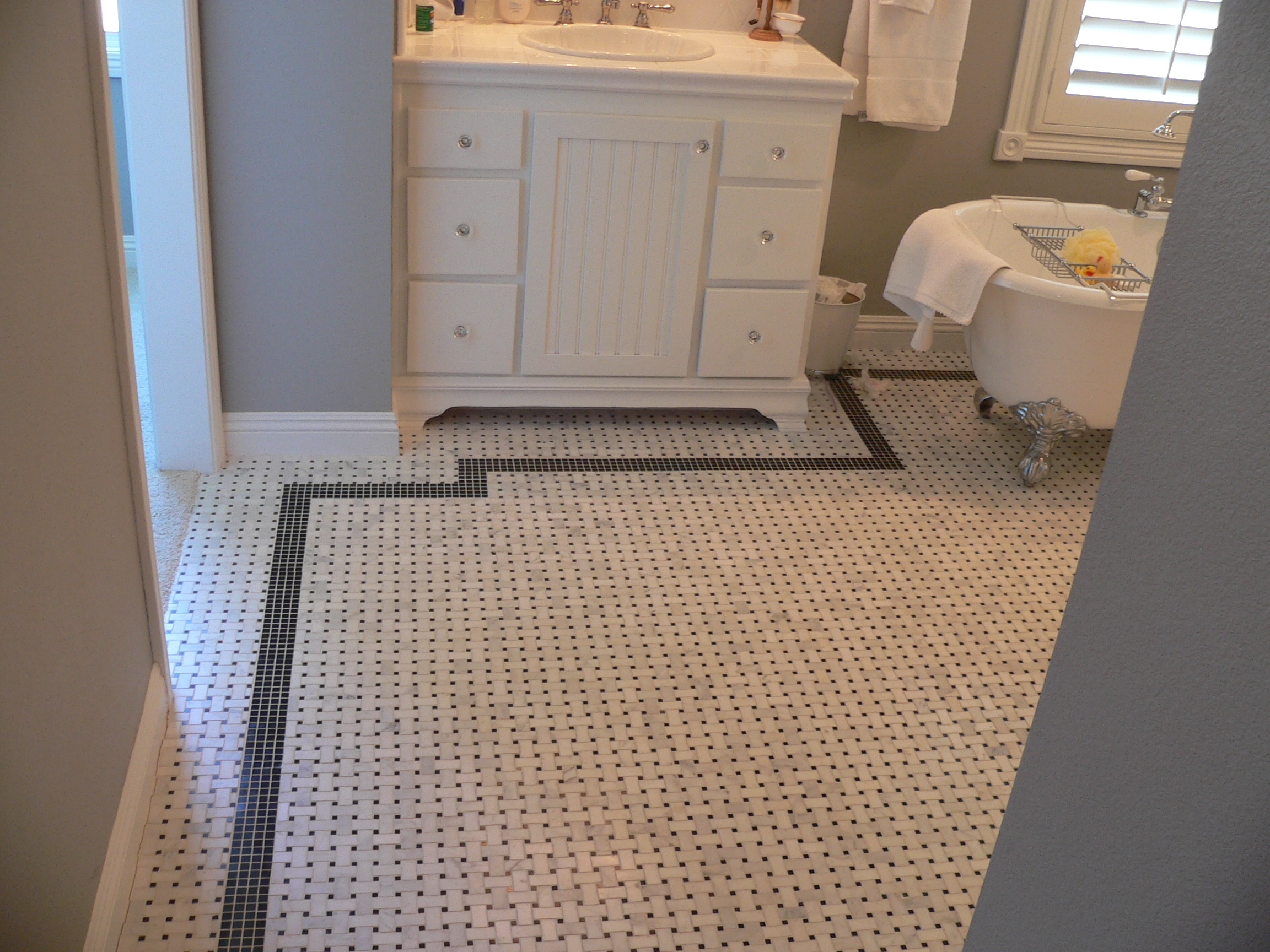 Mosaic Floor I Did In Fountain Valley Ca The Tile Came From Dal Tile