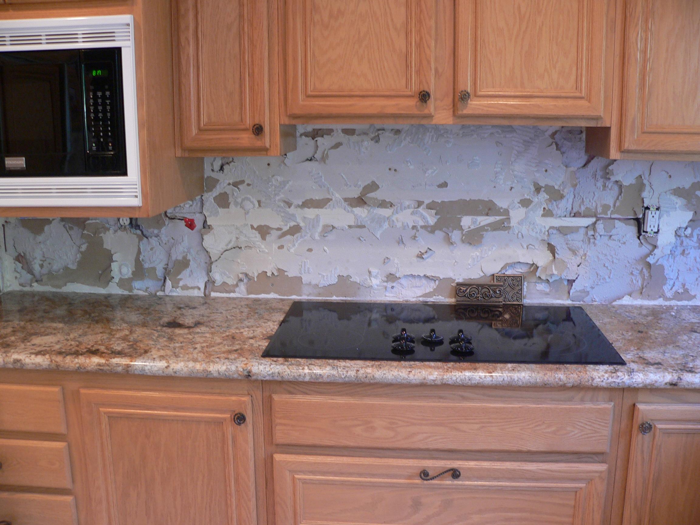 Kitchen backsplash make over everythingtile drywall practically dailygadgetfo Choice Image