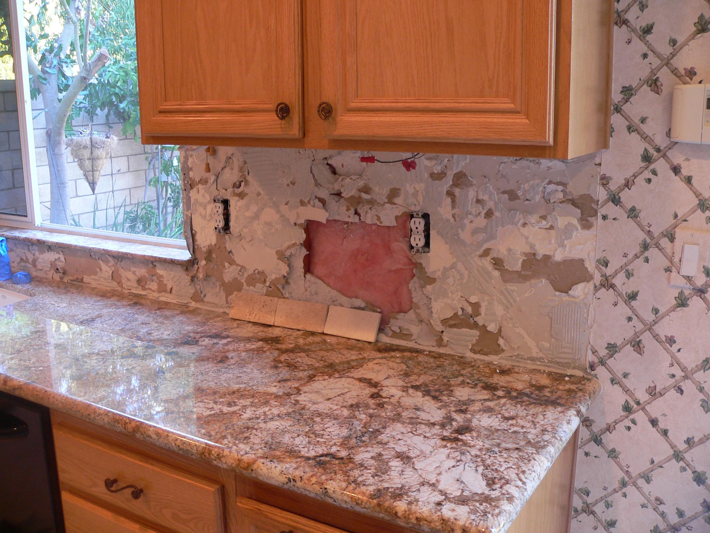 Kitchen Backsplash Over Drywall kitchen backsplash make-over… | everythingtile