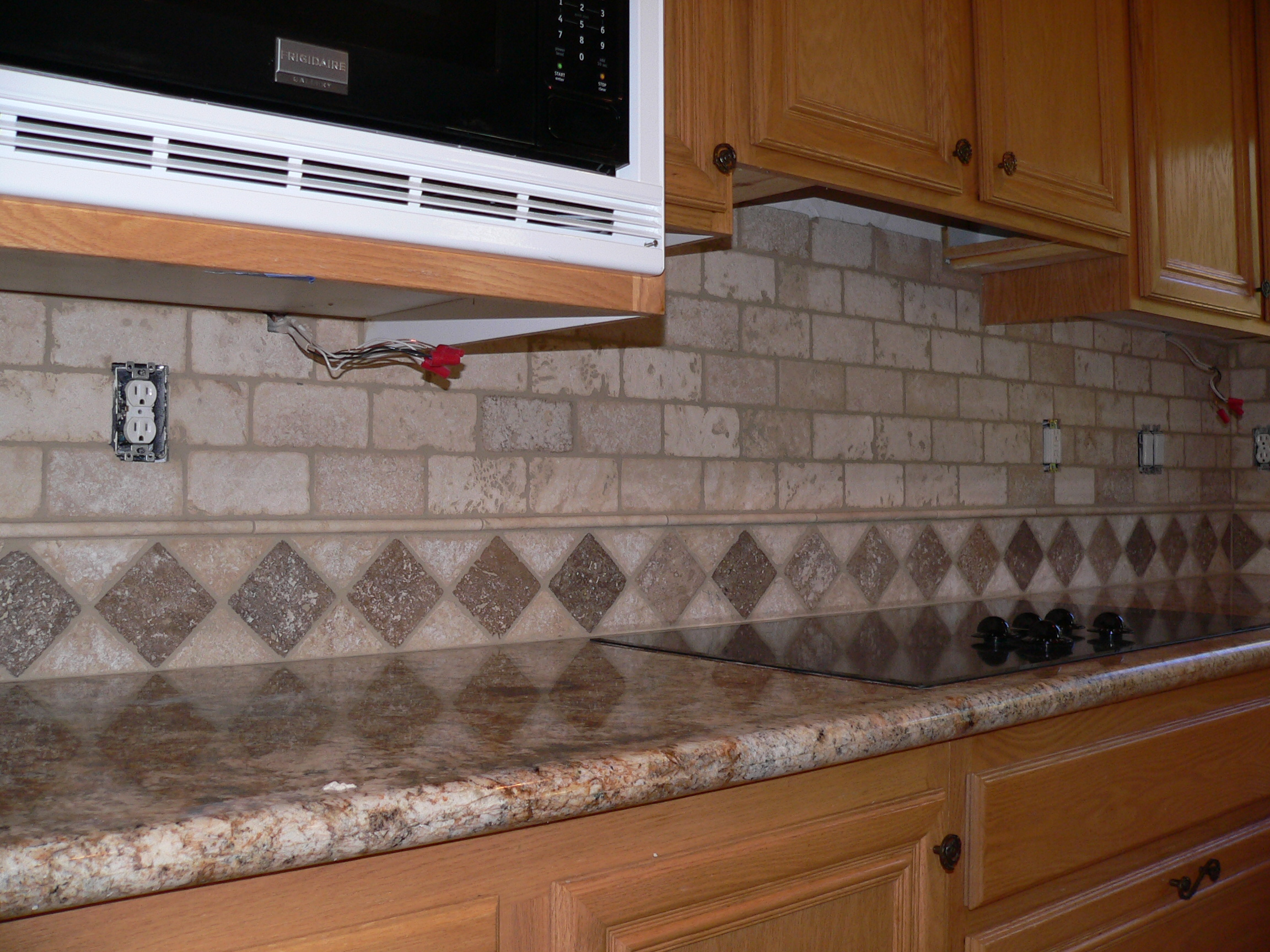 Kitchen backsplash make over everythingtile - Backsplash designs travertine ...